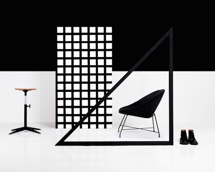 interiors shoe shoes chair black white
