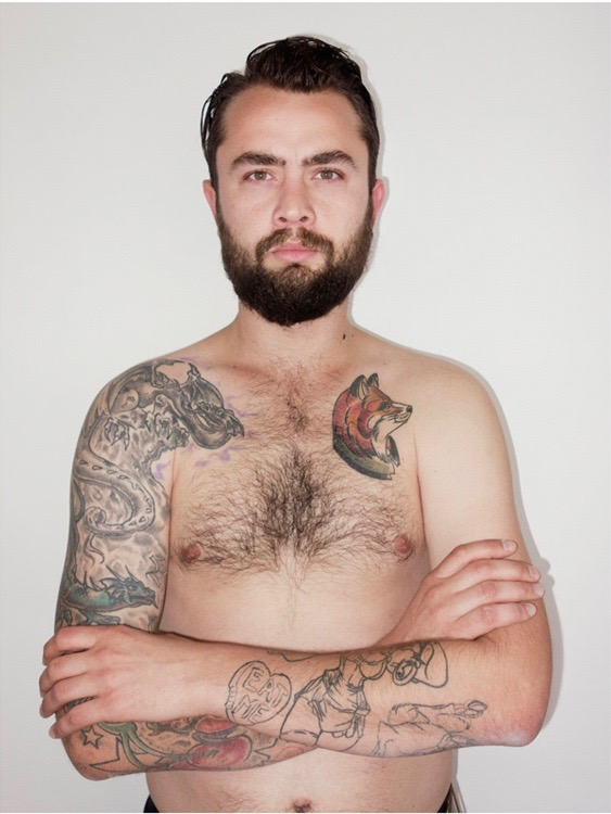 photo, photos, photography, photographer, photographers, man, men, tattoo, tattoos, crossed arms, beard, mustache, chest, body hair