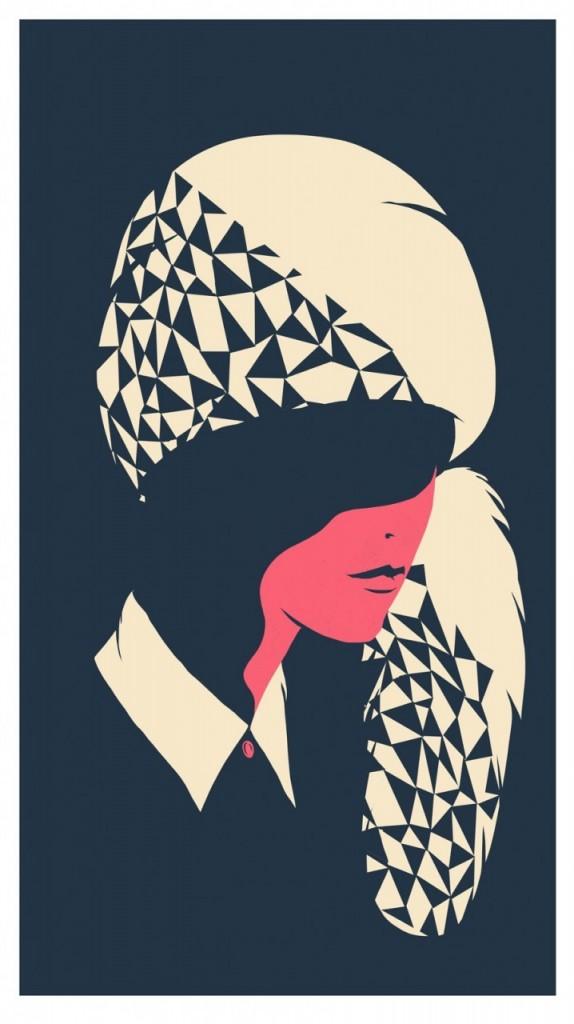 Digital Painting Elegant vector fashion woman dress hat