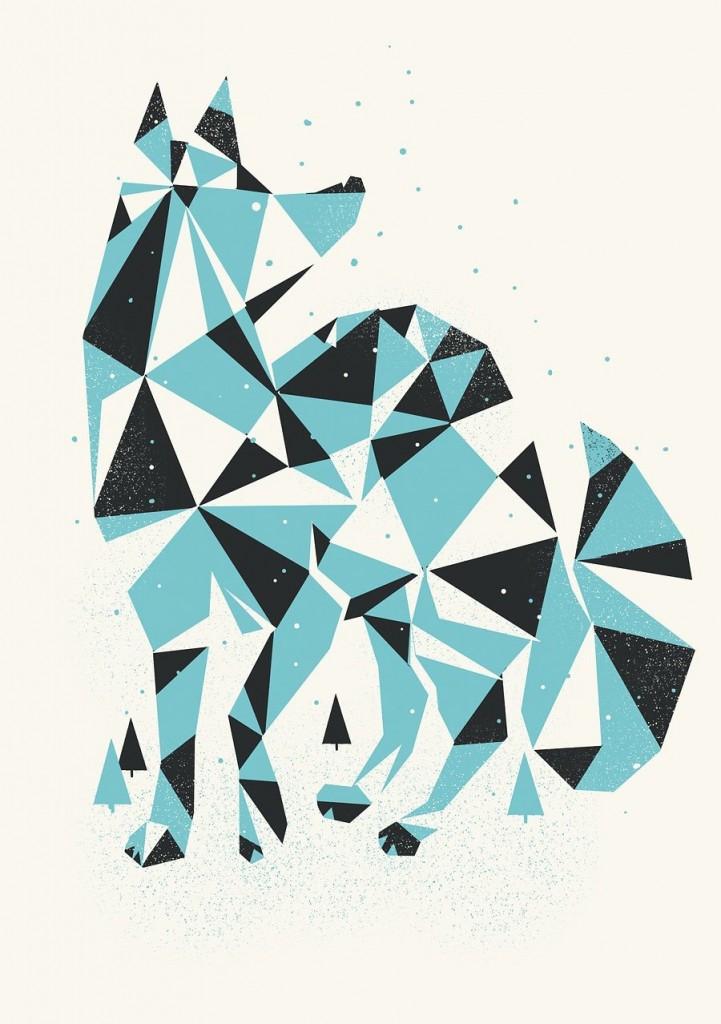 Digital Painting Elegant screenprint nature animal animals
