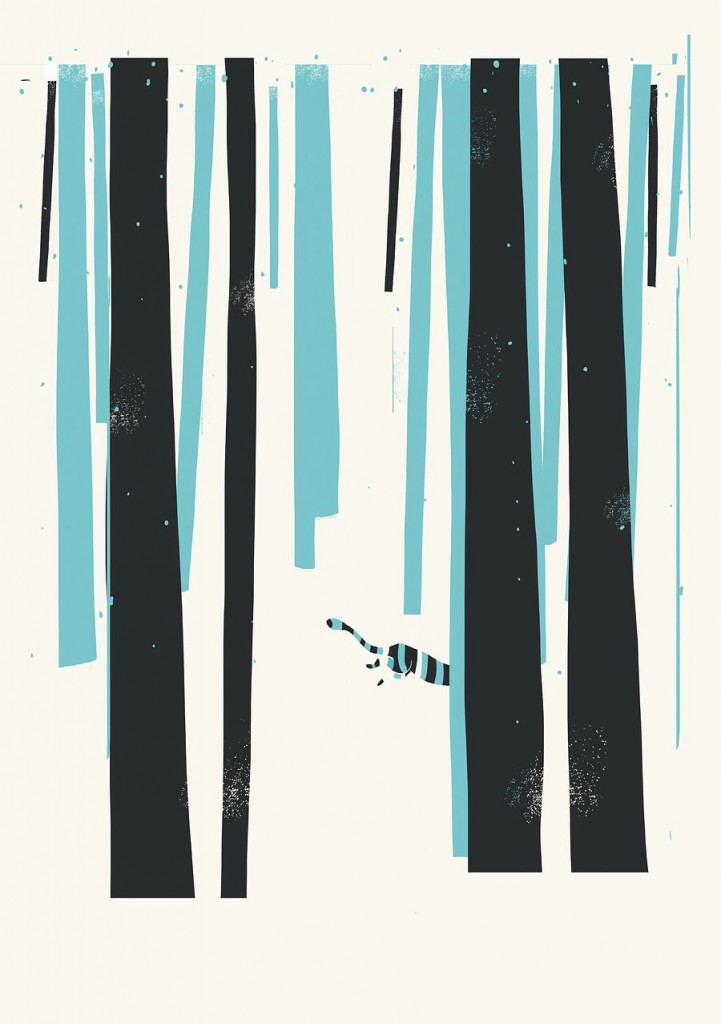 Digital Painting Elegant screenprint nature wood animal animals