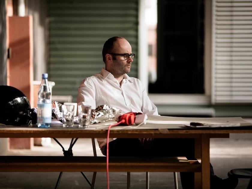 photo photos photography photographer photographers man mature glasses table chair sit sitting desk white short profile head bald balding face blurry