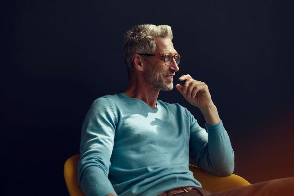 "photo photos photography photographer photographers man mature ""grey hair"" turquoise glasses profile smile smiling head face yellowhand"