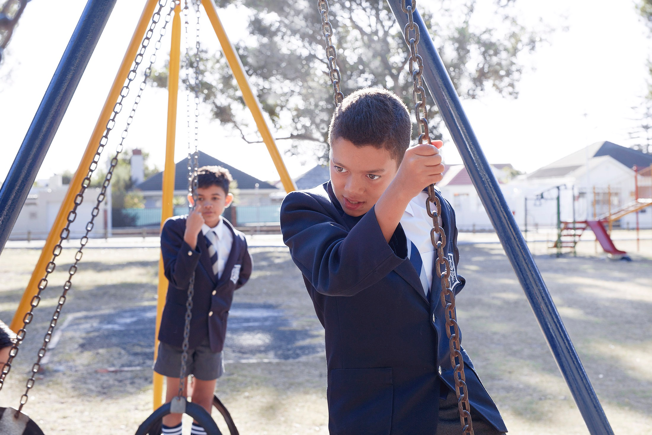 photo photography photographer school uniform education boy boys friends climb climbing playgound