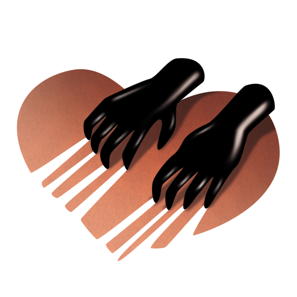 illustration, illustrations, illustrator, illustrators, hands, drag, dragging, heart, hearts, gradient, love