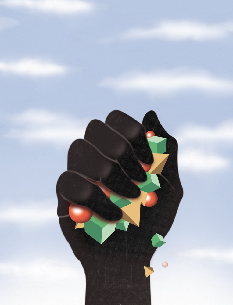 illustration, illustrations, illustrator, illustrators, hand, hands, hold, holding, gem, gems, shape, shapes, sky, cloud, clouds, gradient