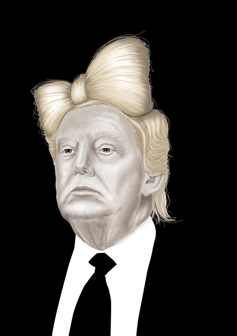 illustration, illustrations, illustrator, illustrators, man, men, donald trump, trump, pale, suit, blonde, hair, hairstyle, hairs, dark