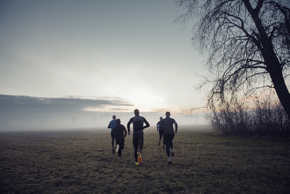 photo, photos, photography, photographer, photographers, man, men, run, running, tree, trees, fog, field