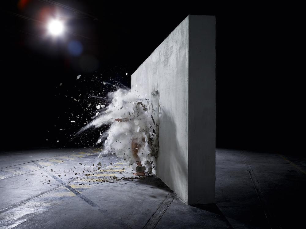 photo, photos, photography, photographer, photographers, wall, walls, sun flare, flare, concrete, burst, explosion, dark, warehouse